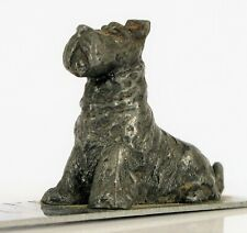 Antique Scottie Terrier Small Dog Letter Opener Ruler Chrome Plated Heavy Duty !