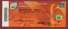 Orig.Ticket    Frauen WM DEUTSCHLAND 2011   NORDKOREA - SCHWEDEN // Spiel 14  !!