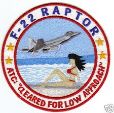 F-22 RAPTOR HUMOROUS PATCH, RED BIKINI ON THE BEACH                            Y