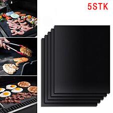 5x Grillmatte Dauer antihaft BBQ Grillmatten Bratfolie Backmatte Grillschale