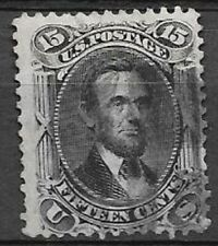 USA 15c Lincoln Scott type A33 black very nice centered stamp see scans