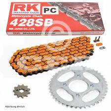 Kit de Cadena Suzuki Gs 125s 1999 CADENA RK PC 428 SB 124 ABIERTO Naranja 14/43
