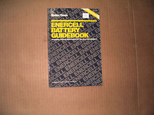 Radio Shack  62-1304  Enercell Battery Guidebook Copyright 1990