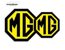 MG TF 09 Onward Emblem Badge Inserts Front Rear 70 & 90mm Black Yellow Badges