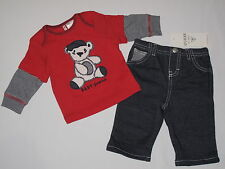 NWT GUESS  long sleeve 2PC set  BOY 3/6M red