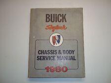 Handbuch Service Manual Buick Syklark Ausgabe1980 original