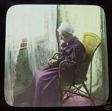 Glass Magic lantern slide THE MAN WHO SPOILED THE MUSIC NO6 C1890 VICTORIAN TALE