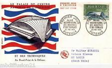 1959 - Enveloppe 1°Jour - Palais Du Cnit - Puteaux - Timbre - Yt.1206