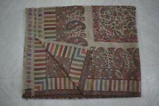 Queen Paisley Kani Wool Bedspread Reversible Huge Throw Blanket  BS46