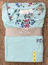 Oscar De La Renta Womens Size Medium Aqua 2 Piece Pajama Set Short Sleeve Pants