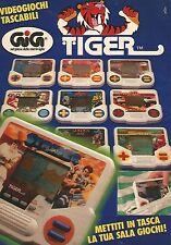 X1508 Tiger - Metti in tasca la tua sala giochi - Pubblicità del 1991 - Advert