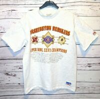 Nutmeg Mills Washington Redskins 1992 Super Bowl XXVI Champions T-Shirt XL