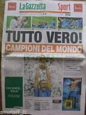 GAZZETTA DELLO SPORT - ITALIA CAMPIONE DEL MONDO 2006  ITALY WORLD CUP CHAMPION