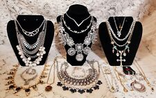 22 Piece Vintage/Modern Mixed Rhinestone Necklace Lot - Sarah Coventry, Weiss