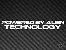 Alimentato da tecnologie aliene (Tinta Unita Stile) Divertente Auto, Furgone Adesivo UFO