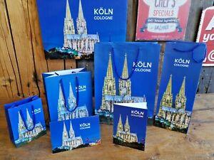 Souvenir Kölner Dom Geschenktüten Grußkarten Geschenk Tüte Köln Flaschentüte