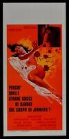Plakat Wy 'Quelle Seltsame Tropfen Von Blut Edwige Fenech George Hilton N63