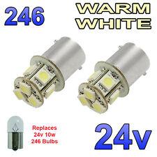 2 x LED bianco caldo 24v ba15s 246 r10w 8 SMD LAMPADINE Targa Laterali Interni CAMION MEZZI PESANTI