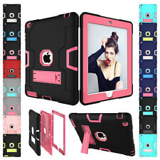 Shockproof Heavy Duty Silicone Protective Case Cover For Apple iPad Mini 1 2 3