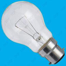 2x 60W Dimmable Clear GLS Standard Incandescent Light Bulbs BC B22 Bayonet Lamp