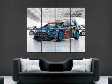 RALLY CAR FAST  ART WALL LARGE IMAGE GIANT POSTER !!