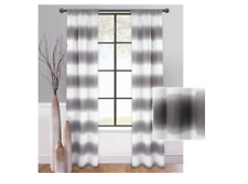 LOT OF 2 PANELS Mainstays Fading Stripe Curtain Charcoal Gray New