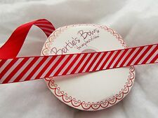 16mm Grosgrain Red and White Candy Stripe Ribbon in 1m, 5m and 10m
