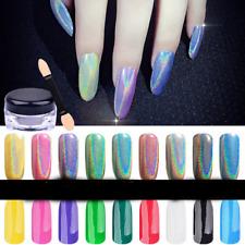 Nail Glitter Powder Holographic Iridescent Nail Art Magic Mirror Chrome Pigment