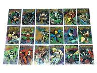 1995 DC LEGENDS POWER CHROME HARD HITTERS INSERT 18 CARD SET WONDER WOMAN BATMAN