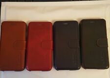 Apple iphone 6 plus Luxury genuine Leather Wallet Cover Flip Phone Case 4 colour
