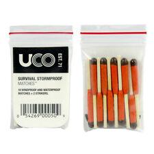 UCO Survival Stormproof Matches 10 w/Zip Bag & Striker Windproof Waterproof
