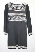 Fatface Jumper Dress Long Sleeve Charcoal Grey Sz 10 Winter snowflake