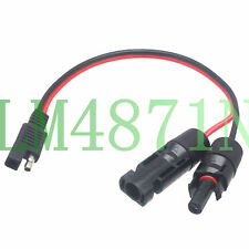 """SAE connector Battery 14AWG 12"""" DC Power MC4 Solar panel Trailer Plug Cable wire"""