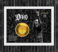 DIO WE ROCK CUADRO CON GOLD O PLATINUM CD EDICION LIMITADA. FRAMED