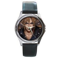 Final Fantasy 7 advent children black leather watch