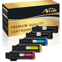 5 Pack Color Toner Compatible for Xerox Workcentre 6515 6515N Phaser 6510 6510DN