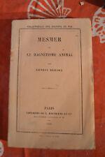 Mesmer et le magnétisme animal - Ernest Bersot - Hachette 1853