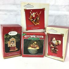 Hallmark Keepsake Ornament lot 4- Scooby Santa List Sleigh motion Window