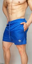 ADIDAS VINTAGE Shorts LARGE (BUILT IN BRIEF) SIDE POCKETS