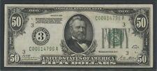 FR2100-C $50 1928 FRN PHILADELPHIA -- AU -- BU5909