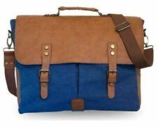 Wiley Gear Vintage Canvas Vegan Leather Travel Shoulder Messenger Bag for 13...