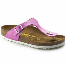 New Authentic Birkenstock Gizeh size 37 - Shiny Check Rose