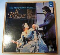 LA BOHEME, The Metropolitan Opera, Boxset on Laserdisc, Stratas,Carreras, Levine