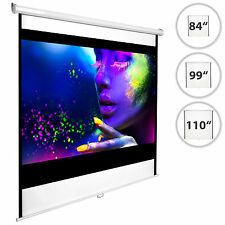 "HD Projection Screen Home Cinema 4:3 Pull Down Projector 16:9 84"" 99"" 110"" New"