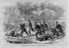 CIVIL WAR SOLDIERS OF 15TH MASSACHUSETTS REGIMENT BAYONET CHARGE AT BALL'S BLUFF