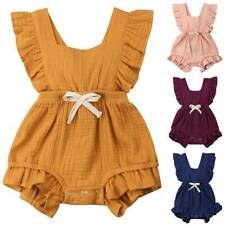 Summer Toddler Baby Kids Girls Ruffle Romper Jumpsuit Playsuit Outfits Clothes