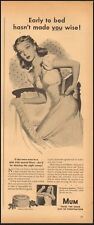 1945 Vintage ad for Mum deodorant `WWII era Art Pretty Model reto     011819