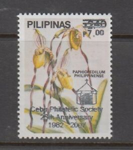 Philippine Stamps 2007: 2.40p Orchids ovpt Cebu Philatelic Society 25th Anni. C