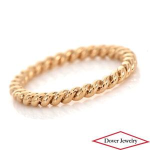 Estate 18K Gold Rope Twist Design Ring NR