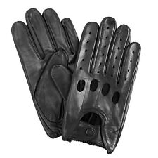 isotoner Men's Classic Leather Unlined Driving Gloves Large Black